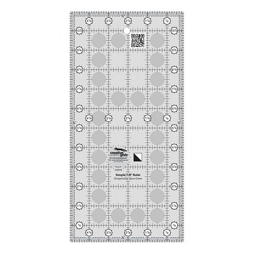 Creative Grids Simple 7/8 Triangle Maker Quilt Ruler