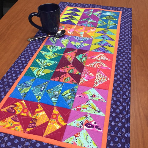 Wild and Free Table Runner by Camilla Quilts