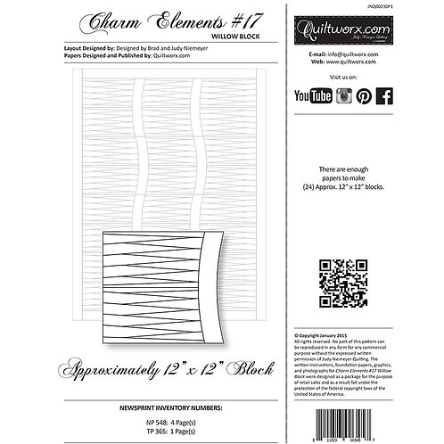 Charm Elements 17-Willow Block by Judy and Brad Neimey