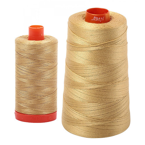 Aurifil Cotton Thread 50wt Light Brass 2920