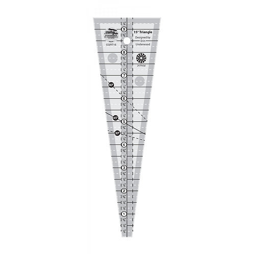 Creative Grids 15 Degree Triangle Ruler