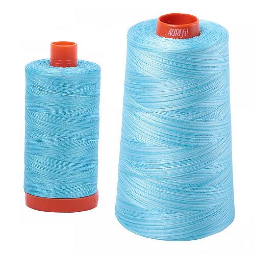 Aurifil Cotton Thread 50wt Variegated Baby Blue Eyes 4663
