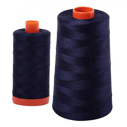 Aurifil Cotton Thread 50wt Very Dark Navy 2785