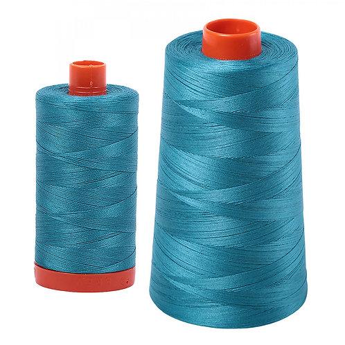 Aurifil Cotton Thread 50wt Dark Turquoise 4182
