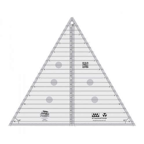 Creative Grids 60 degree Triangle 12-1/2in Quilt Ruler