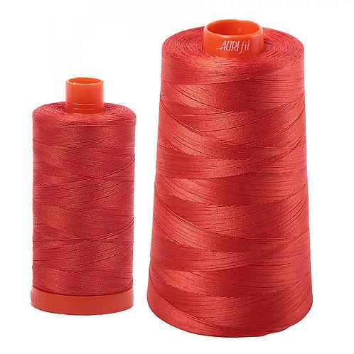 Aurifil Cotton Thread 50wt Red Orange 2245