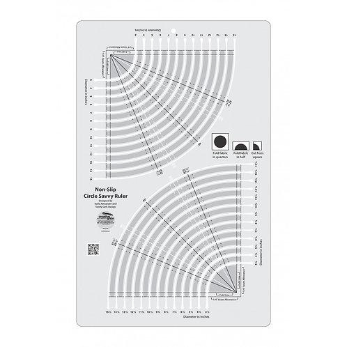 CGRSAV1-Creative Grids Circle Savvy Ruler