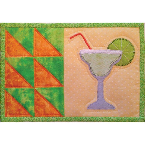 Scrappy Happy Hour Mug Rug by Cathey Laird