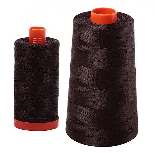 Aurifil Cotton Thread 50wt Very Dark Bark 1130
