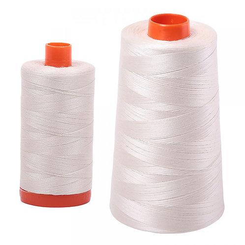 Aurifil Cotton Thread 50wt Silver White 2309