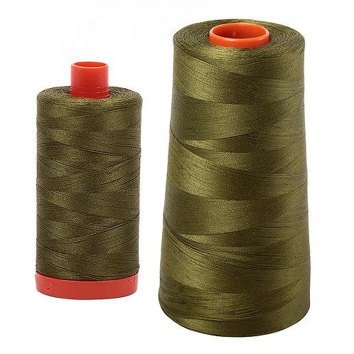 Aurifil Cotton Thread 50wt Very Dark Olive 2887