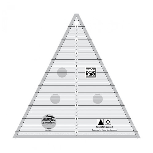 CGRTMT2-Creative Grids Quilt Ruler Triangle in a Square