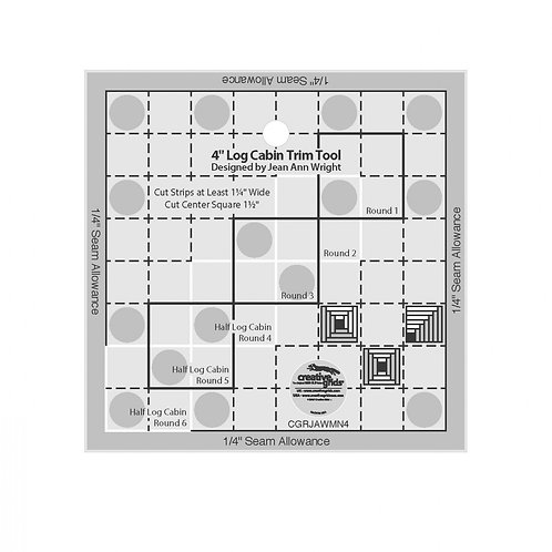 CGRJAWMN4-Creative Grids 4in Log Cabin Trim Tool Template
