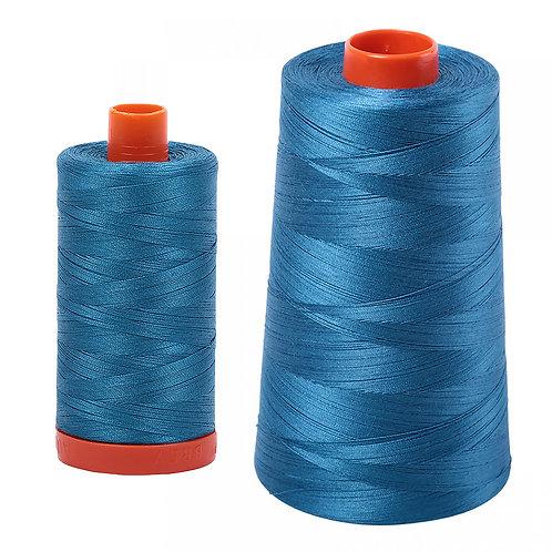 Aurifil Cotton Thread 50wt Medium Teal 1125