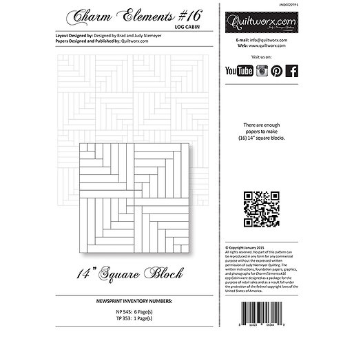 Charm Elements 16-Log Cabin by Judy and Brad Neimeyer