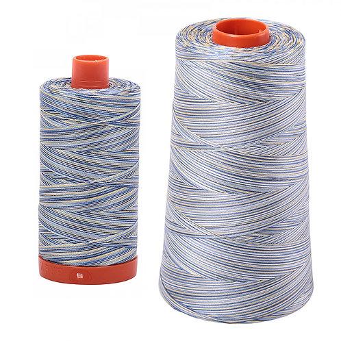 Aurifil Cotton Thread 50wt Variegated Lemon Blueberry 4649