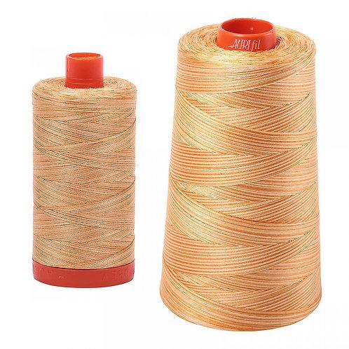 Aurifil Cotton Thread 50wt Variegated Creme Brulee 4150