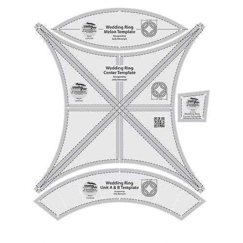 CGRDWR-Creative Grids Double Wedding Ring Templates (4pcs)