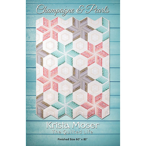 Champagne and Pearls Quilt by The Quilted Life