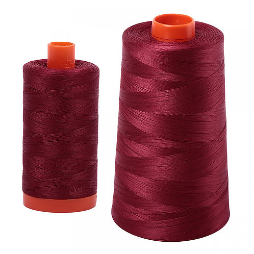 Aurifil Cotton Thread 50wt Dark Carmine Red 2460