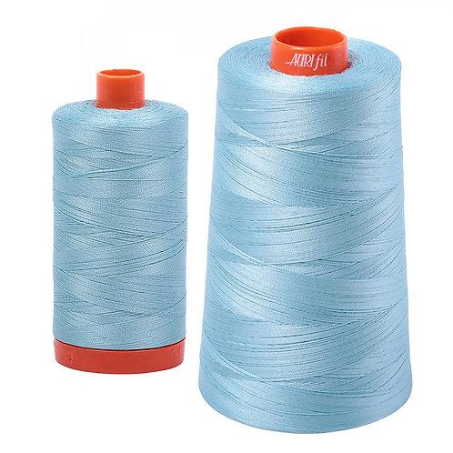 Aurifil Cotton Thread 50wt Light Grey Turquoise 2805