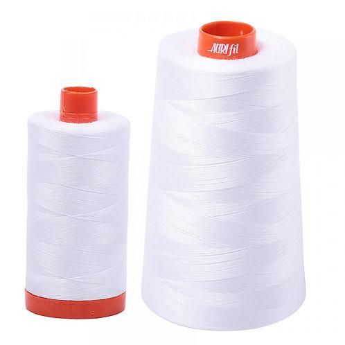 Aurifil Cotton Thread 50wt White 2024