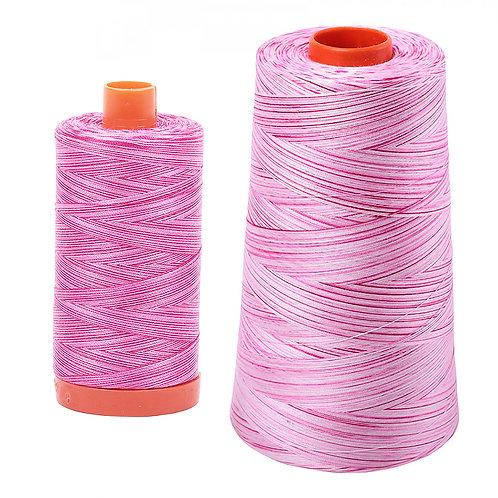 Aurifil Cotton Thread 50wt Variegated Pink Taffy 4660