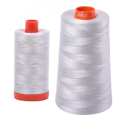 Aurifil Cotton Thread 50wt Aluminium 2615