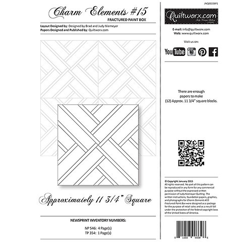 Charm Elements 15-Fractured Paint Box by Judy and Brad Neimeyer