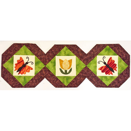 Flutterbye Table Runner by Cathey Laird