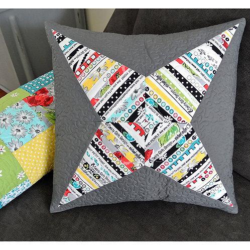 Selvage Star Pillow by Susan Emory & Christine Van Buskirk