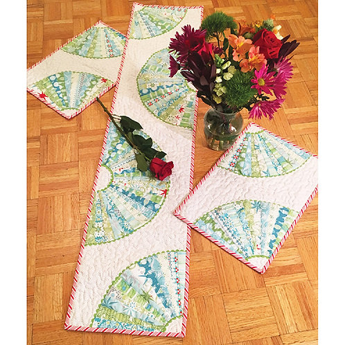 Fan Dance Tablerunner and Placemats by Erin Underwood
