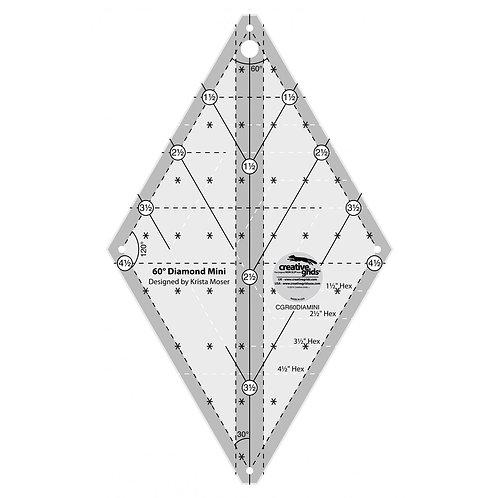 CGR60DIAMINI-Creative Grids 60 Degree Diamond Mini Ruler