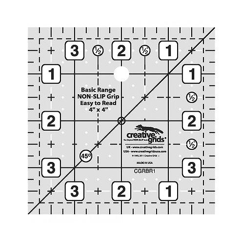 Creative Grids Basic Range 4in Square Quilt Ruler