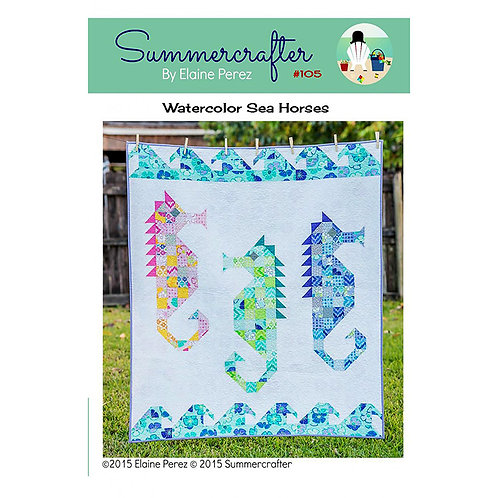 Watercolor Sea Horses by Summercrafter