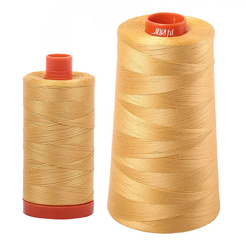 Aurifil Cotton Thread 50wt Spun Gold 2134