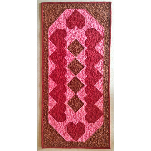 Heart and Chocolate Diamonds Table Runner by Cathey Laird