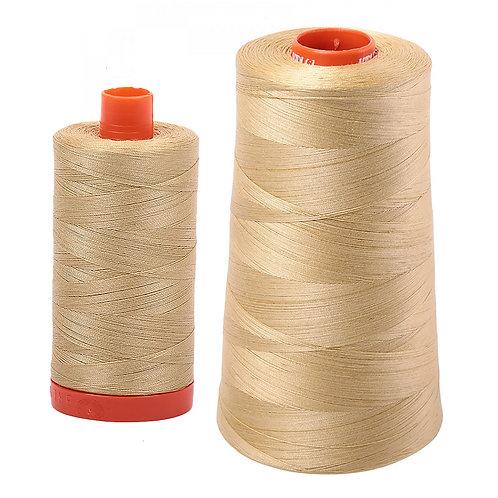 Aurifil Cotton Thread 50wt Very Light Brass 2915