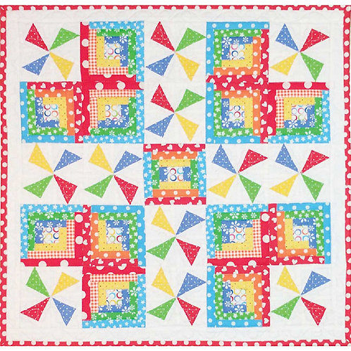 Pinwheel in the Park Quilt by Heidi Pridemore
