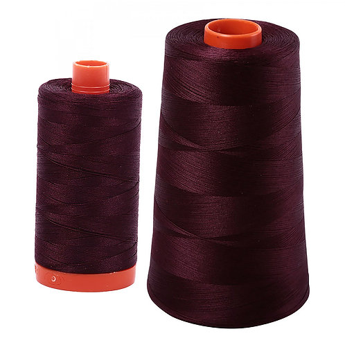 Aurifil Cotton Thread 50wt Very Dark Brown 2465