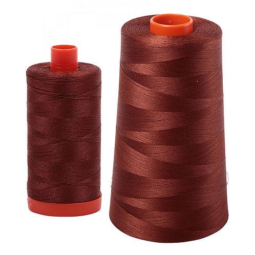 Aurifil Cotton Thread 50wt Copper Brown 4012