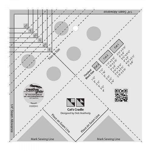 CGRDH1-Creative Grids Cat's Cradle Tool Template