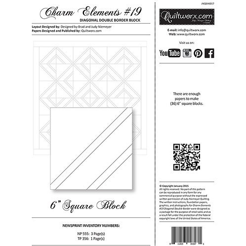 Charm Elements 19-Diagonal Double Border Block by Judy and Brad Neimeyer