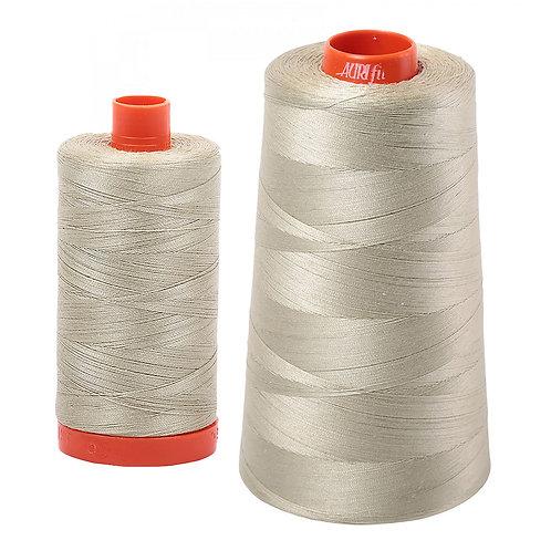 Aurifil Cotton Thread 50wt Light Military Green 5020