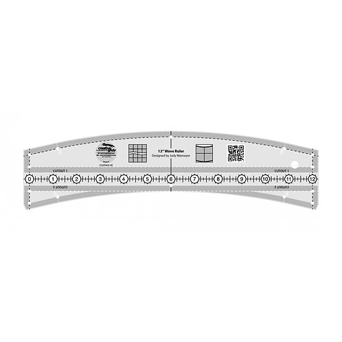 CGRWAVE-Creative Grids 12in Wave Ruler