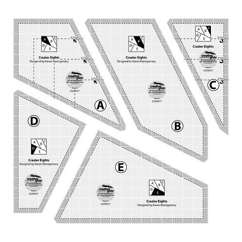 CGRMT7-Creative Grids Crazier Eights Templates (5pcs)