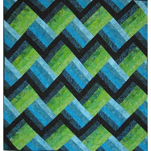 Easy Strip Quilt by Renelda Peldunas-Harter