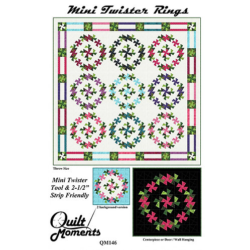 Mini Twister Rings by Quilt Moments