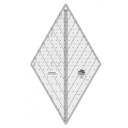 CGR60DIA-Creative Grids 60 Degree Diamond Ruler