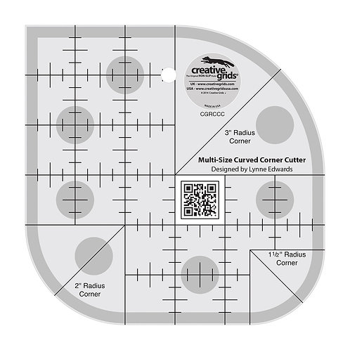 CGRCCC-Curved Corner Cutter Quilt Ruler